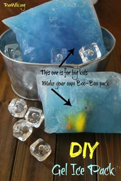 Did you know it's really easy to make you own blue gel ice pack at home? It requires only a few household items- add a few plastic toys and make it a boo boo pack for kids.