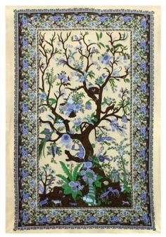 Tree of Life Tapestry - Hanging Wall Art - Great for Apartments, Dorms, Homes, and Office:Amazon:Home & Kitchen
