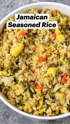 Side Dish Recipes, Veggie Recipes, Vegetarian Recipes, Dinner Recipes, Healthy Recipes, Jamaican Cuisine, Jamaican Dishes, Rice Side Dishes, Best Side Dishes