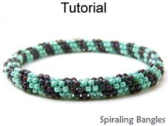 Even Count Tubular Peyote Stitch Beaded Bangle Bracelets Beading Tutorial Pattern Instructions | Simple Bead Patterns