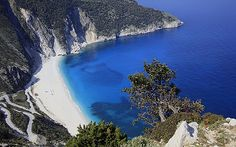 With its unspoilt beaches drenched in autumn sun, Kefalonia is ready to celebrate its patron saint with an island-wide party, says Oliver Smith. Most Beautiful Beaches, Beautiful Places, Great Places, Places To See, Myrtos Beach, Beaches In The World, Honeymoon Destinations, Greece Travel, Greek Islands