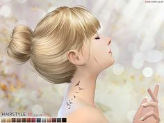 The Sims Resource: Hairstyle N3 - Sims 4 Hairs - http://sims4hairs.com/the-sims-resource-hairstyle-n3/