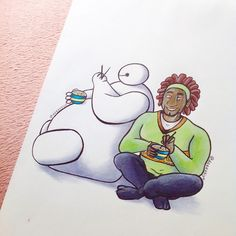 Wasabi and Baymax by DeeeSkye on DeviantArt