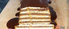 Recept Rychlý nepečený dort se salkovým krémem připraven za 15 minut Salty Snacks, Something Sweet, Nutella, Sweet Recipes, Oreo, Banana Bread, Bakery, Food And Drink, Yummy Food