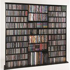The 27 fully adjustable shelves hold CD's, DVD's, Videotapes and game cartridges. #This is the perfect storage system for the media room, home office or anywhere...