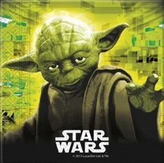 From 17.28 Star Wars Yoda 2 Ply Party Napkins Pack Of 20