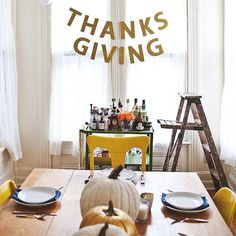 10 Thanksgiving DIYs That Make Hosting Look Easy: If your house is unadorned for Thanksgiving and you're hosting dinner this holiday, try not to freak out.