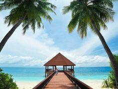 Steg im ROBINSON Club Maldives/Malediven.