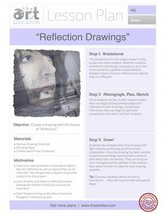 Reflection Drawings: Free Lesson Plan Download - The Art of Ed