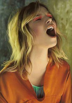 Suvi Koponen by Javier Vallhonrat for Vogue UK September 2007.