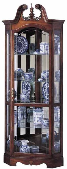 Pulaski Oxford Black Corner Curio Cabinet | Oxfords and Room