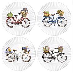 "Summer Bikes 9"" Melamine Plates, Set of 4 One Hundred 80 Degrees http://smile.amazon.com/dp/B00U384LP4/ref=cm_sw_r_pi_dp_soF7wb1HPM0XS"