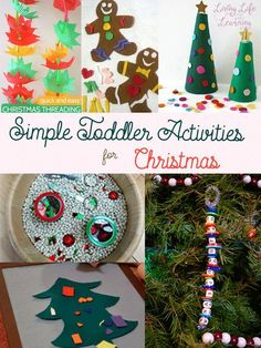 Must-try simple toddler activities for Christmas. Quiet Christmas activities to occupy your toddlers. #Christmas #toddleractivities