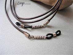 Brown Leather Glasses Chain/28-30 inches/Eyeglass Holder Diy Glasses, Leather Tutorial, Eyeglass Holder, Chains For Men, Band, Women Jewelry, Brown Leather, Lanyards, Google Search