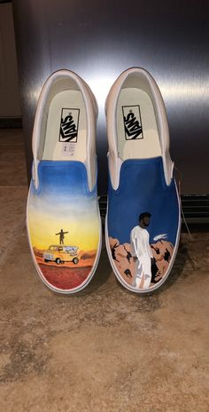Khalid Vans Source by thecustommovement Shoes Painted Vans, Custom Painted Shoes, Painted Sneakers, Hand Painted Shoes, Painted Canvas Shoes, Vans Shoes Fashion, Custom Vans Shoes, Cute Vans, Vanz