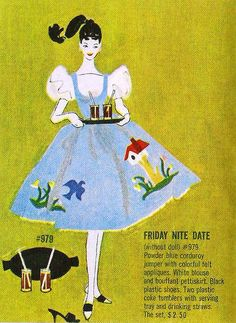 """""""Friday Night Date""""     I had this outfit for my first Barbie doll"""