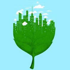 Negative Space Art by Tang Yau Hoong Tang Yau Hoong, Negative Space Art, Textiles Sketchbook, Cool Illusions, Eco City, City Drawing, Visual Metaphor, Sustainable City, Leaf Art