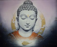 Namo Buddha by Manish Verma. This is a ready-to-hang high quality print on canvas hand textured by artisans to give it a unique embossed effect. Gautama Buddha, Buddha Buddhism, Buddha Art, Buddha Tattoos, Budha Painting, Buddha Thoughts, Namaste, Indian Art, Oriental