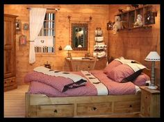 mon style ma deco - mon home staging Cabin Interiors, Wood Interiors, Chalet Design, House Design, Chalet Interior, Interior Design, Kids Bedroom Dream, Ski Lodge Decor, Fairytale House