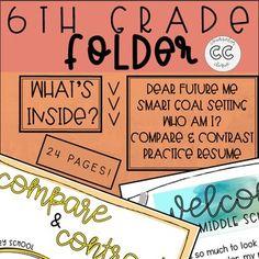 Sixth Grade Folder for School Counselors High School Counseling, School Counselor, Welcome Letters, Dear Future, Fifth Grade, Activities To Do, Teacher Pay Teachers, Middle School, Student