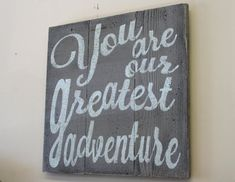 Cute piece for your boys bedroom or nursery! This is a pallet sign that measures 16 x 16. Shown here is gray background with white wording. If