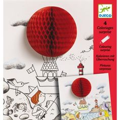 Add excitement to your artwork with the Colouring Surprises by Djeco. The pack contains 4 beautifully illustrated pictures each with a pop out a surprise.Size: Width x Height Material: Paper Boule Anti Stress, Diy For Kids, Gifts For Kids, 3d Pictures, Musical Toys, Color Activities, Party Bag Fillers, Science Experiments Kids, Baby Games