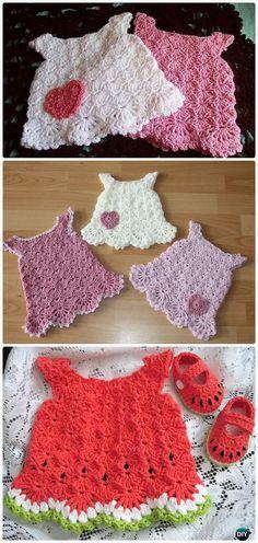 Crochet Little White Dress FreePattern - Crochet Girls Dress Free Patterns