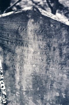 Born in 20 Jul 1780 and died in 5 Oct 1853 , South Carolina Thomas Ansley Estes Find A Grave, Ancestry