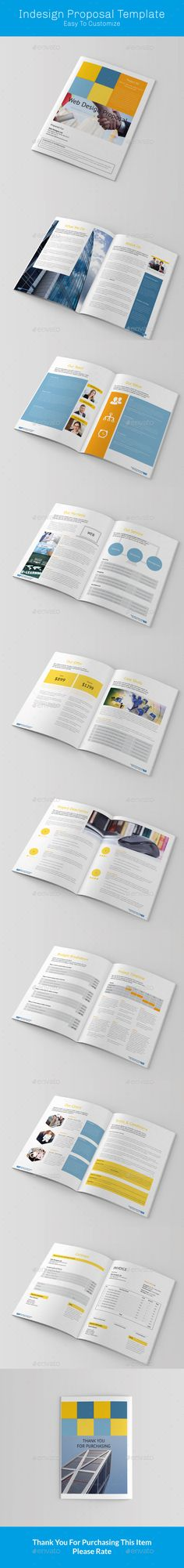 Business Project Proposal Template Indesign Indd Design Download