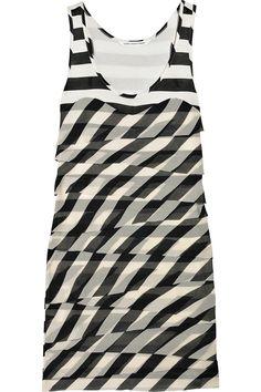 Jessalyn jersey and Silk-Chiffon Dress by Diane Furstenberg