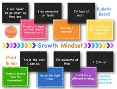 Printable Growth Mindset Bulletin Board Kit. 60+ Pages.