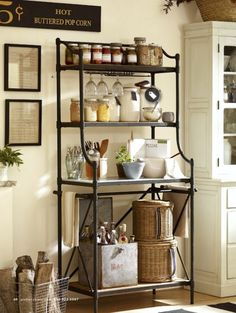 Beautiful Kitchen Bakers Rack Cabinets