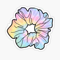 Tie dye scrunchie Sticker