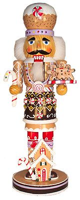 "Wooden ""Gingerbread"" Nutcracker"