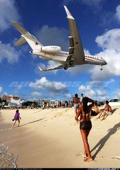Bombardier BD-700-1A11 Global 5000,  Philipsburg / St. Maarten - Princess Juliana (SXM / TNCM) St. Maarten, January 5, 2014