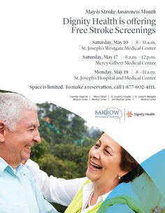 We have 3 free stroke screenings coming up next month. See our flyer for details. Space is limited, so be sure to call and make a reservation if you want to attend!