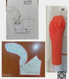 Sleeve pattern alteration that will create a lovely draping effect when sewn with pleats. Sleeve pattern alteration that will create a lovely draping effect when sewn with pleats. No automatic alt text available. 27 elegant photo of custom sewing patterns Sewing Hacks, Sewing Tutorials, Sewing Projects, Techniques Couture, Sewing Techniques, Dress Sewing Patterns, Clothing Patterns, Frock Patterns, Sewing Sleeves