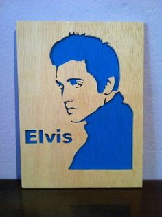 Wall Art – Elvis Presley wooden box – a unique product by planetasierra on DaWanda Elvis Presley, Pond Painting, Portrait Wall, Wood Burning Art, 3d Laser, Scroll Saw Patterns, Silhouette Art, Easy Woodworking Projects, Pop Up Cards