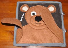 Brown Bear Quiet Book Page