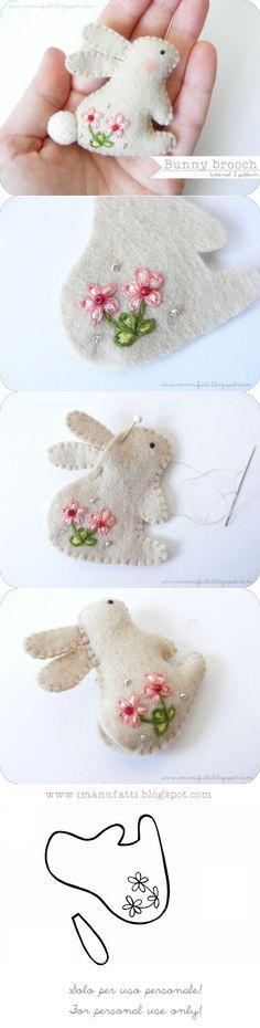 i ManuFatti: Spilla conigliosa