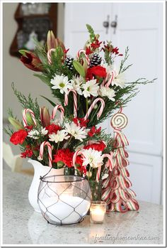 Christmas Decor: Candy Candy Flower Arrangement by Finding Home