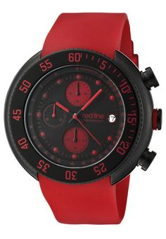 Price:$152.99 #watches Red Line 50038-BB-01-RD, An aura of brilliance. This Red Line timepiece glows with its irradiant charm. Its smooth design will intensify anyone's personality.