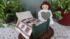 "R JOHN WRIGHT 2004 ""RAGGEDY ANN THE MAGICAL HOUR & BED"" 7.5"" L.E.#268/400 #Dolls"
