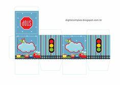 Birthday Themes For Boys, 3rd Birthday, Mickey E Minie, Transportation Birthday, Favor Boxes, Paper Dolls, First Birthdays, Baby Boy, Clip Art