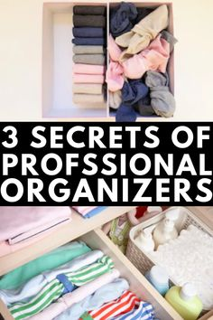 3 Steps to An Organized Closet from Professional Organizers | If you want to know how to declutter your closet and keep it clutter free, these tips and ideas will inspire you. We