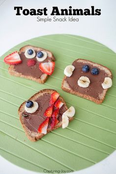 Toast Animals - Simple Snack Idea that the kids will love!