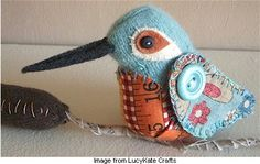 pincushion hummingbird (inspiration only) For all those little scraps w some if us can never throw away ; )