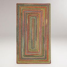 One of my favorite discoveries at WorldMarket.com: Plymouth Concentric Rectangle Braided Rug, Gold Finch