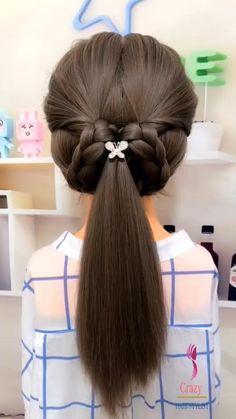 Easy Ponytail Hairstyles, Cute Simple Hairstyles, Easy Hairstyles For Long Hair, Braids For Long Hair, Up Hairstyles, Pretty Hairstyles, Front Hair Styles, Hair Styler, Hair Creations