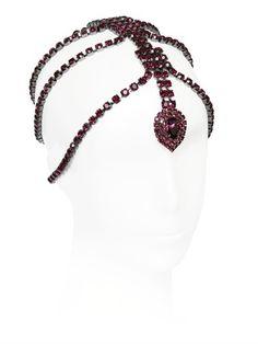 Emanuele Bicocchi Purple Swarovski Crystals Headpiece on shopstyle.com